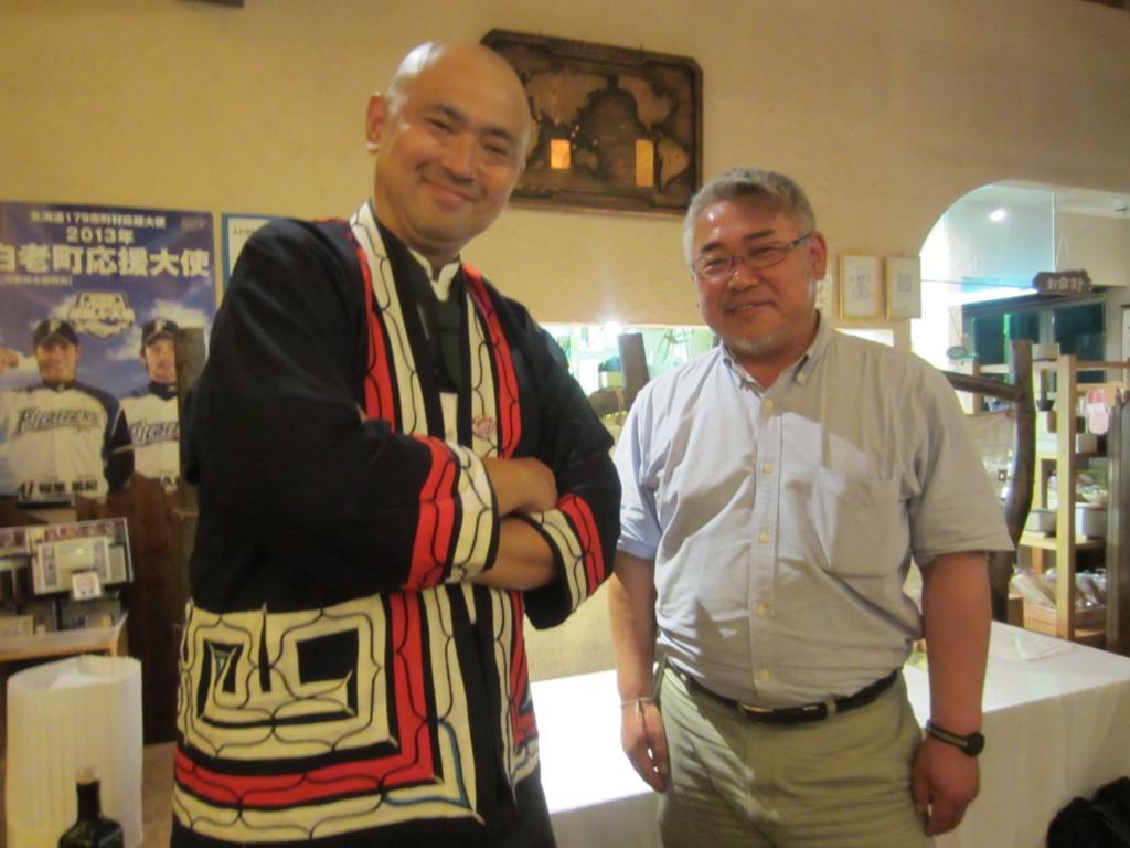 アイヌ民族博物館の阿部さんとコラボさせて頂き「現代風アイヌ料理」を創作していきます