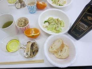 カンタンなオリーブオイル料理の御試食も、3品用意させて頂きました