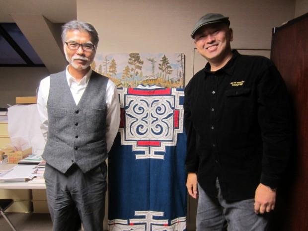 アイヌ民族博物館、野本正博館長様とは、様々な角度から「アイヌの伝統的食文化の伝え方」を話し合いました