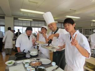 料理人志望の男子もいて、仕事が早かったですね