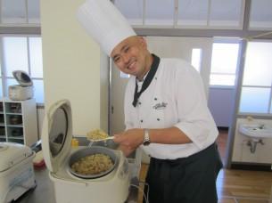 「オリーブ玄米御飯」も美味しく炊けました