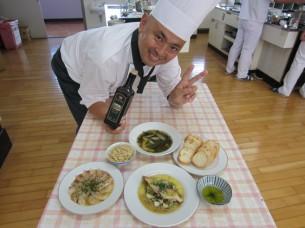 地元の食材とEXVオリーブオイルを使った料理の数々です!