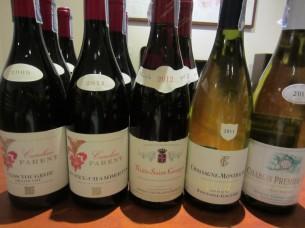 ブルゴーニュの高級ワインばかりです