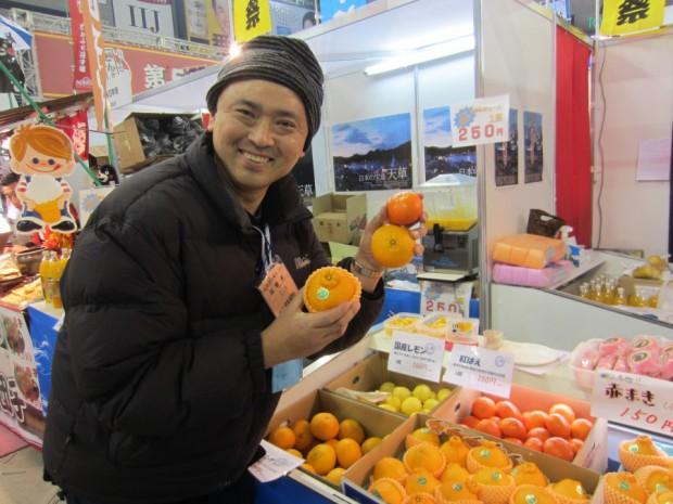 天草市のブースも大人気でしたが、今が旬の美味しい柑橘類がたくさん用意されていて嬉しくなりました